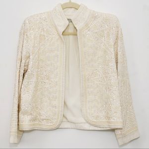 Embroidered Blazer with Beadwork
